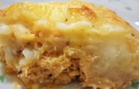 Escondidinho de frango com batata doce