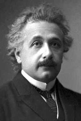 Albert Einstein, fotografia oficial do Prêmio Nobel de Física de 1921